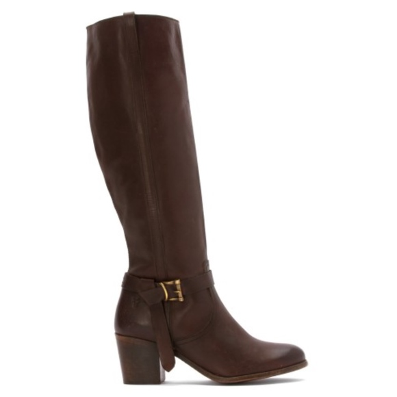 NEW Frye Malorie Knotted Tall Leather Boots